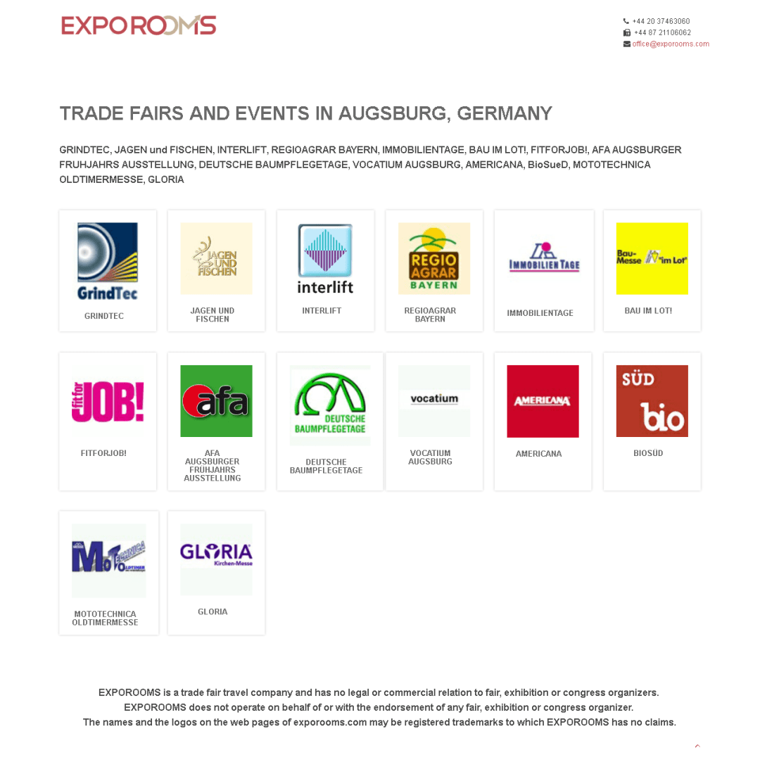 Trade Fairs and Events in Augsburg, Germany
