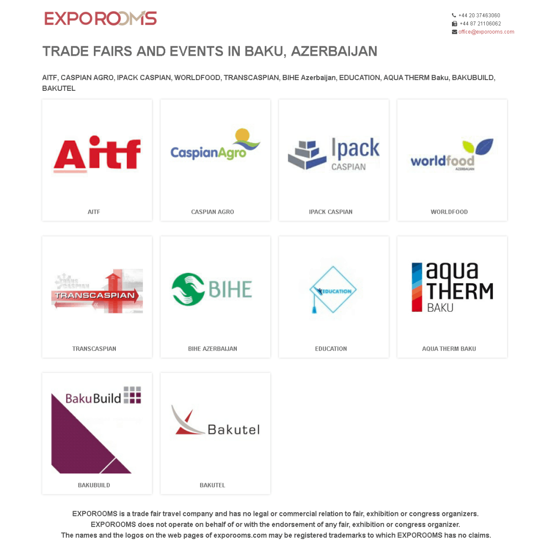 Trade Fairs and Events in Baku, Azerbaijan