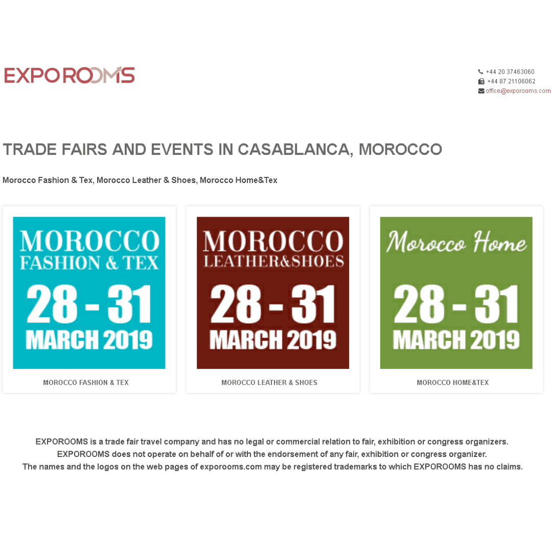 Trade Fairs and Events in Casablanca, Morocco