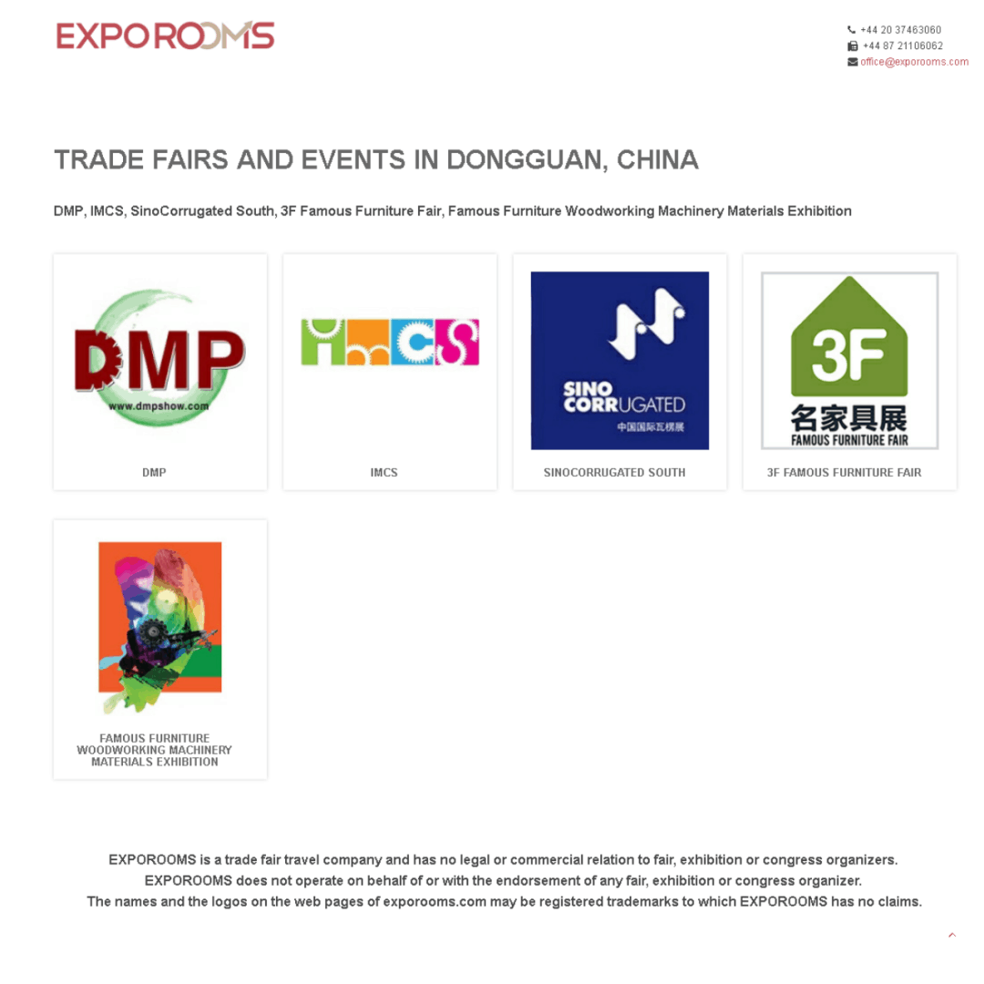 Trade Fairs and Events in Dongguan, China