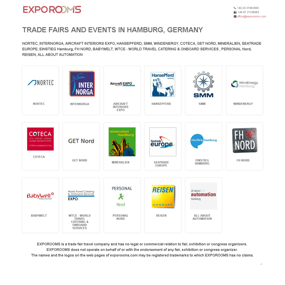 Trade Fairs and Events in Hamburg, Germany