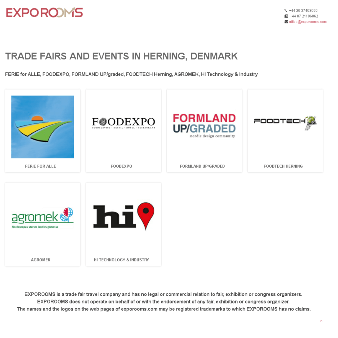 Trade Fairs and Events in Herning, Denmark