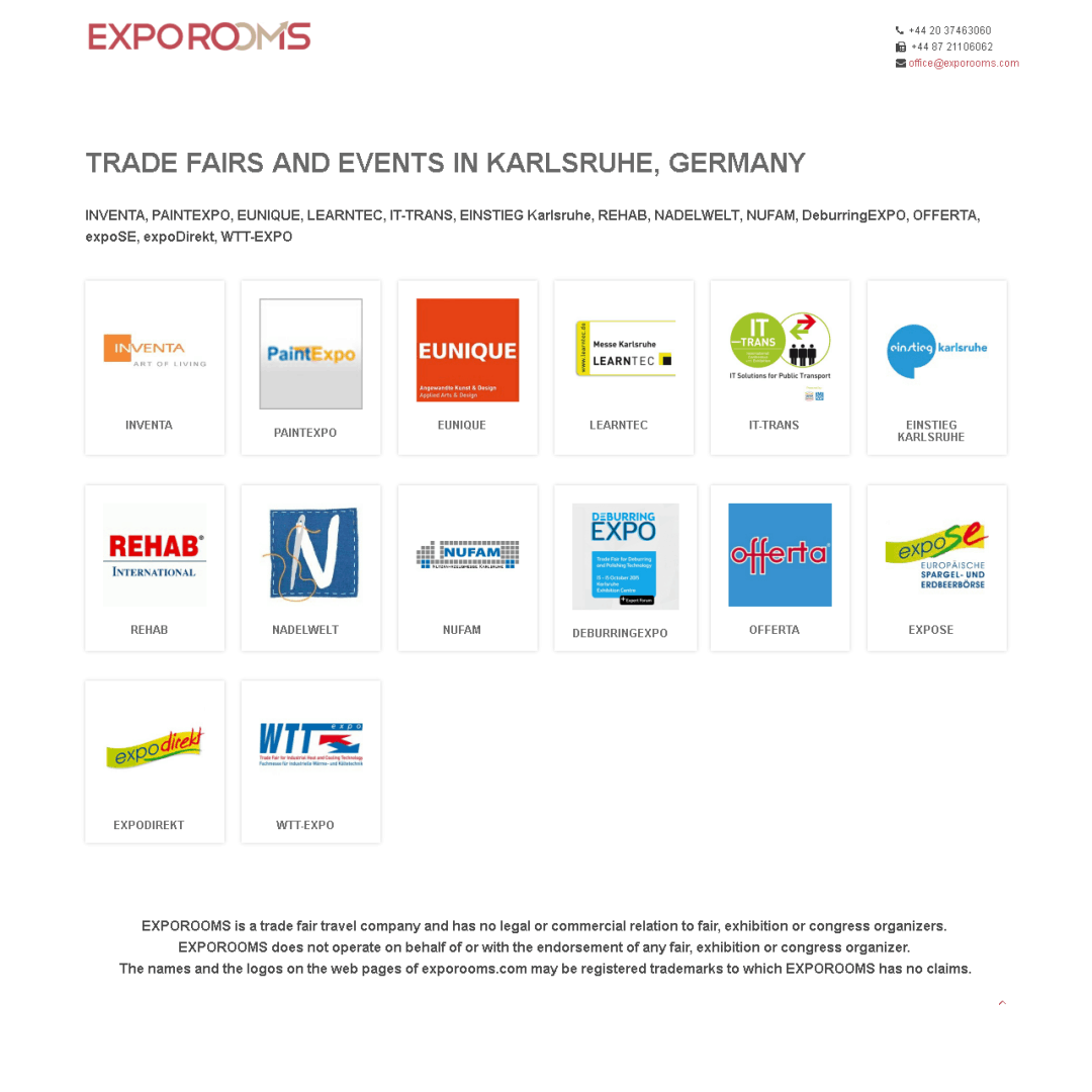 Trade Fairs and Events in Karlsruhe, Germany