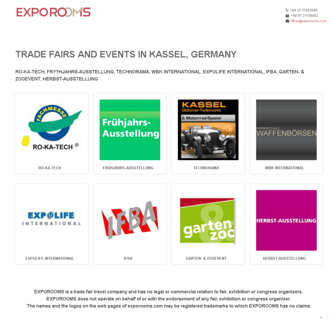 Trade Fairs and Events in Kassel, Germany