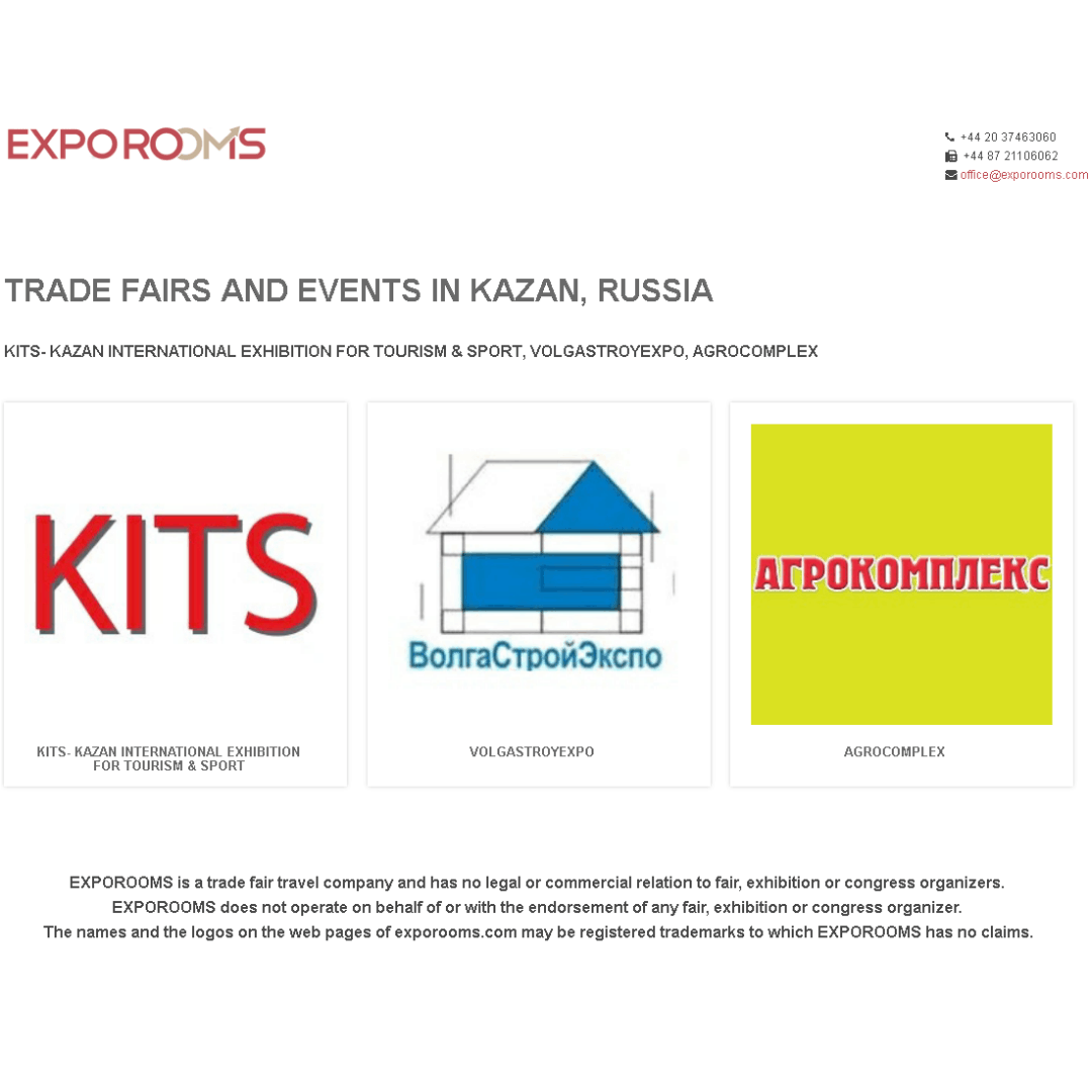 Trade Fairs and Events in Kazan, Russia