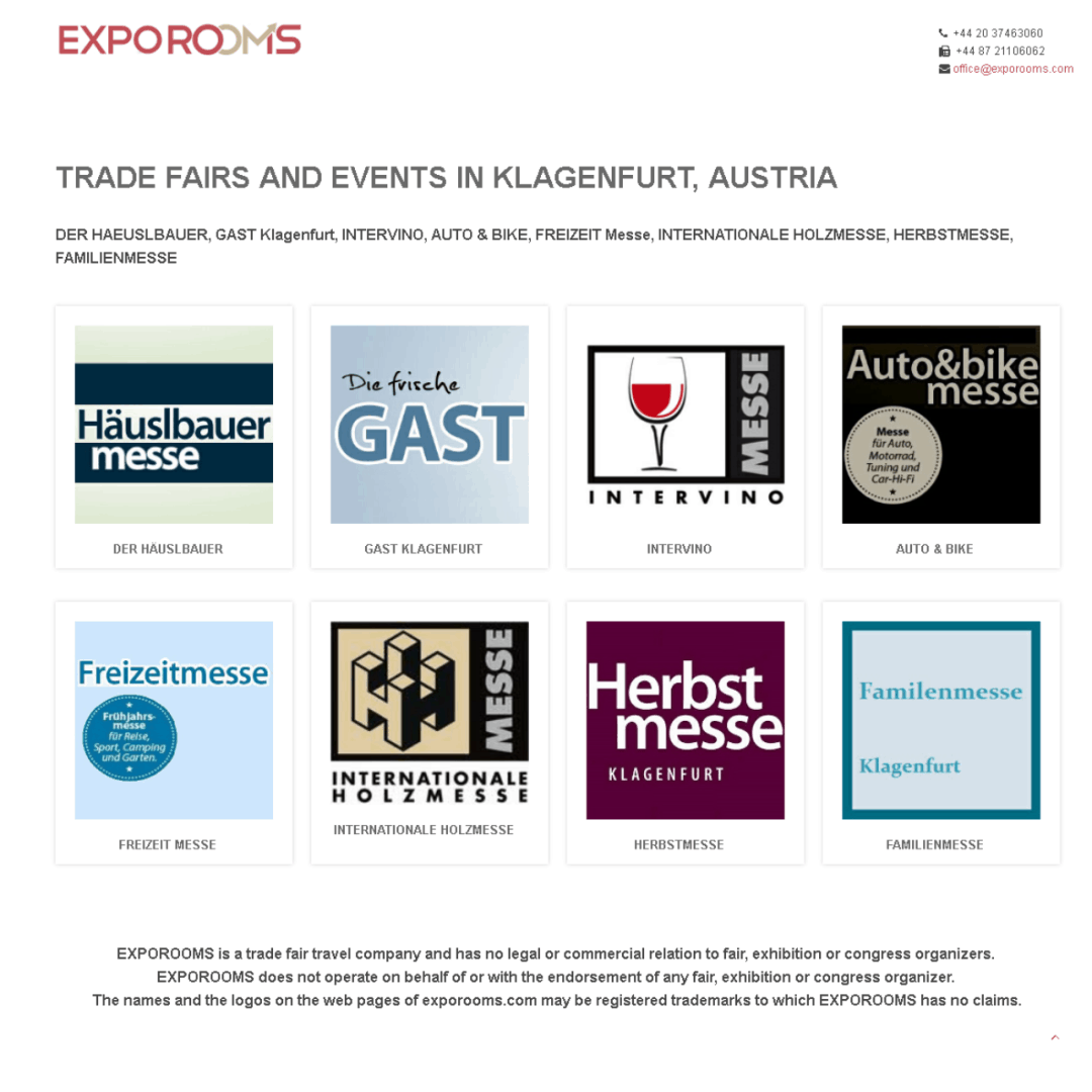 Trade Fairs and Events in Klagenfurt, Austria