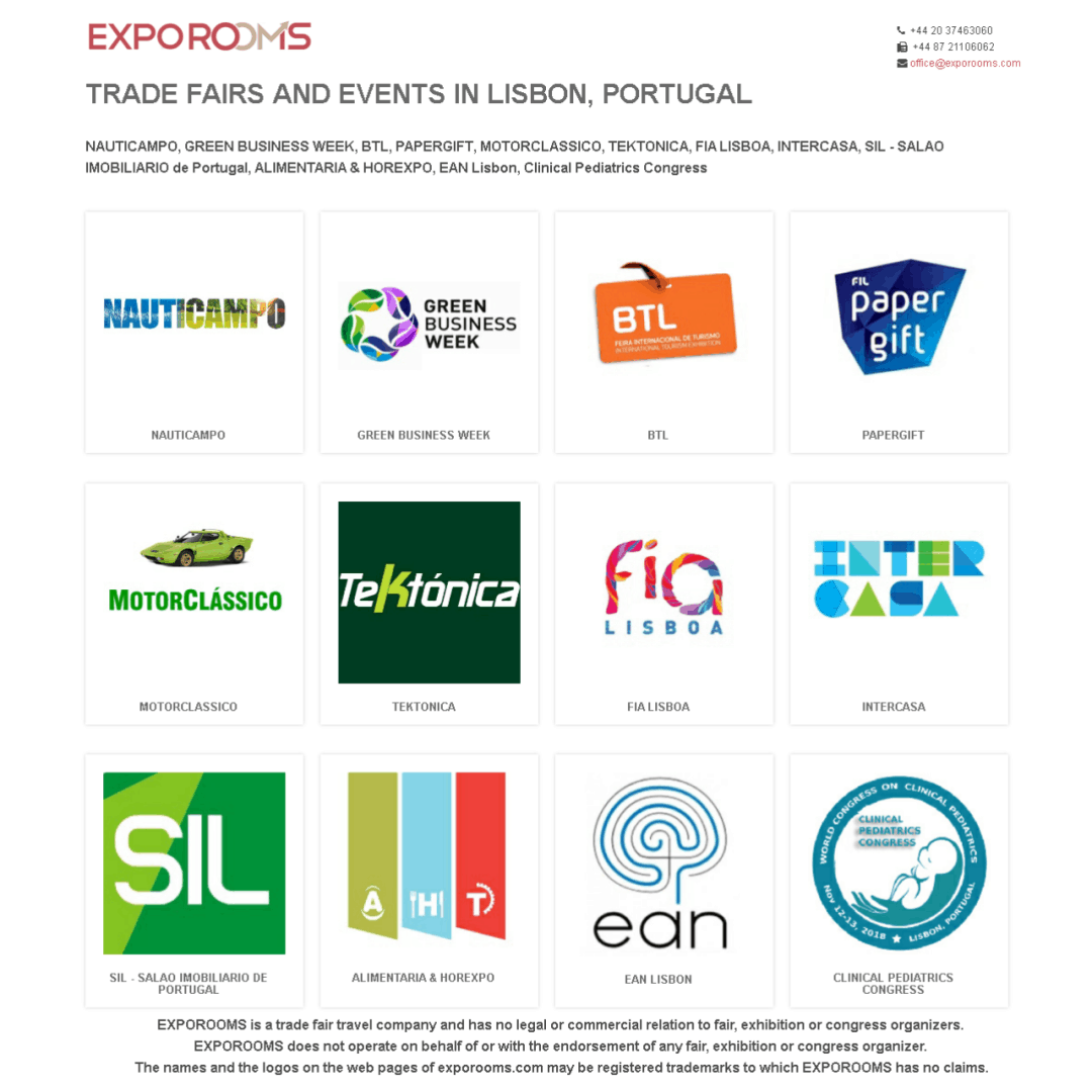 Trade Fairs and Events in Lisbon, Portugal