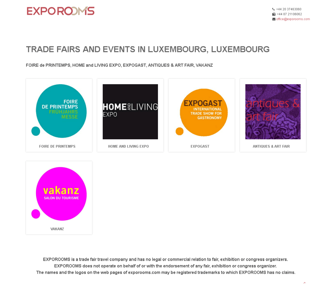 Trade Fairs and Events in Luxembourg, Luxembourg