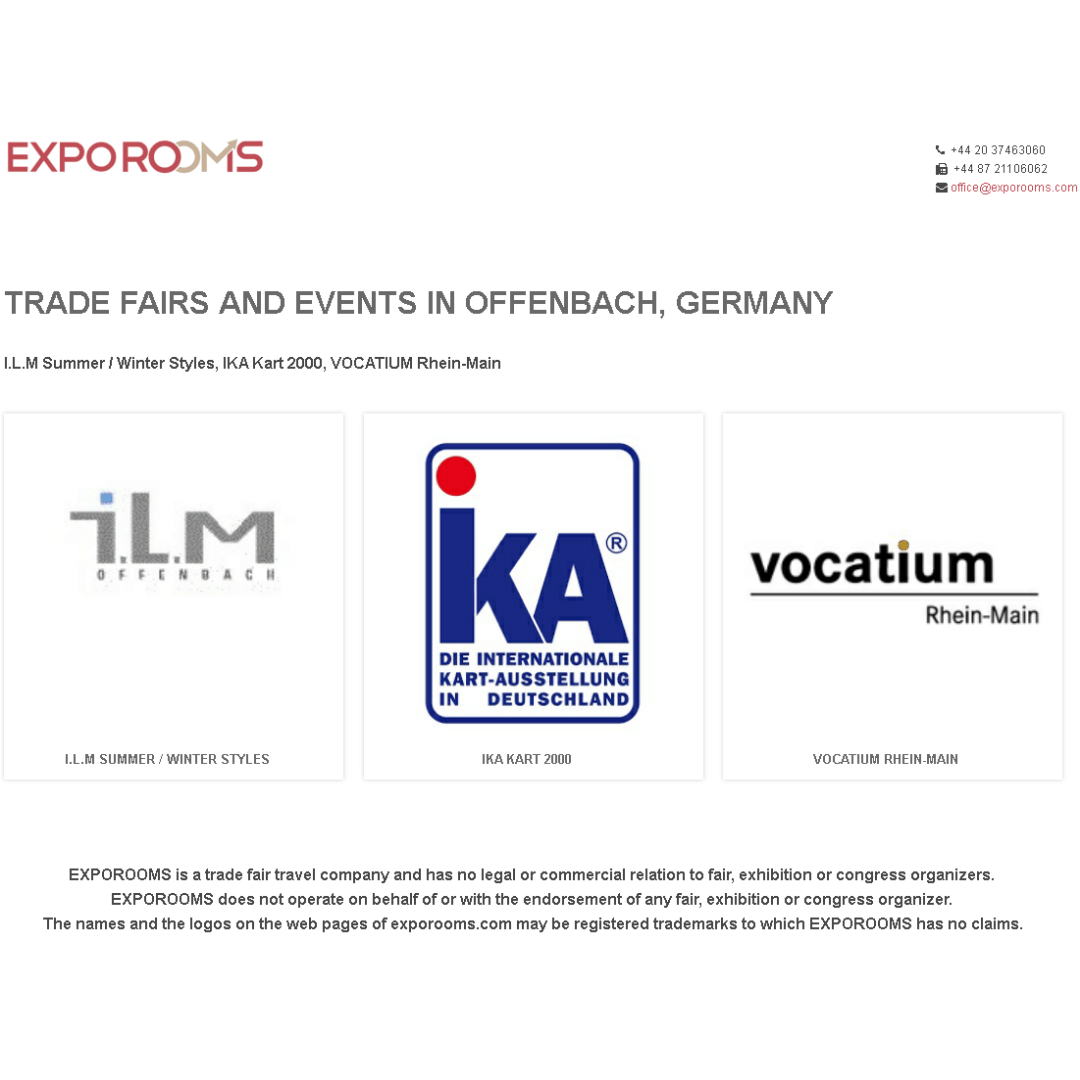 Trade Fairs and Events in Offenbach, Germany