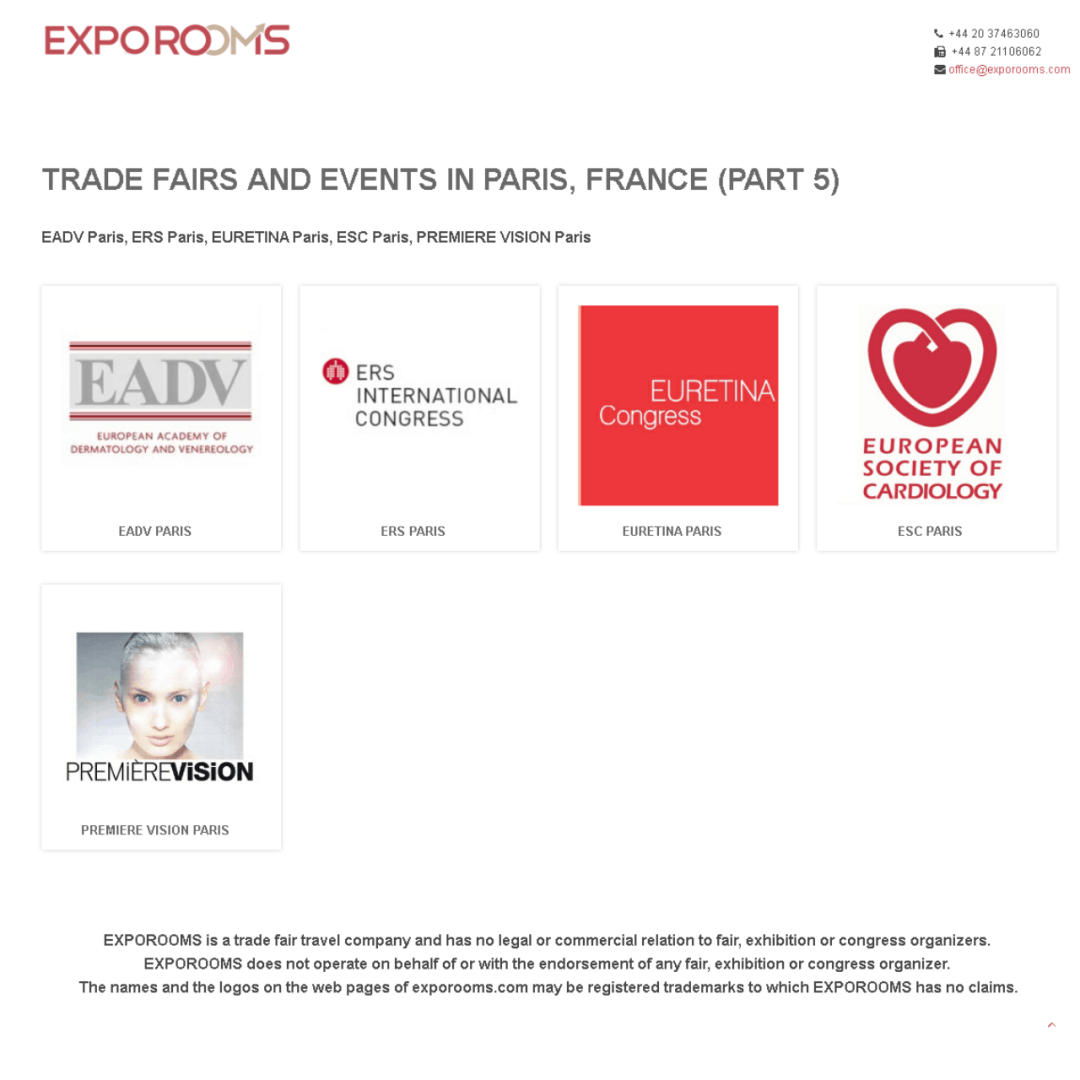 Trade Fairs and Events in Paris, France (part 5)