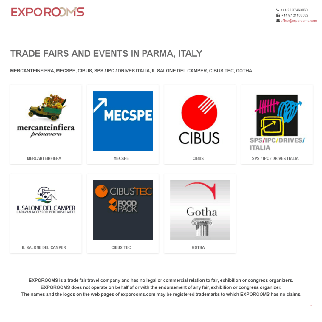 Trade Fairs and Events in Parma, Italy