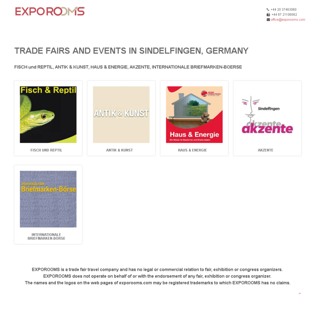 Trade Fairs and Events in Sindelfingen, Germany