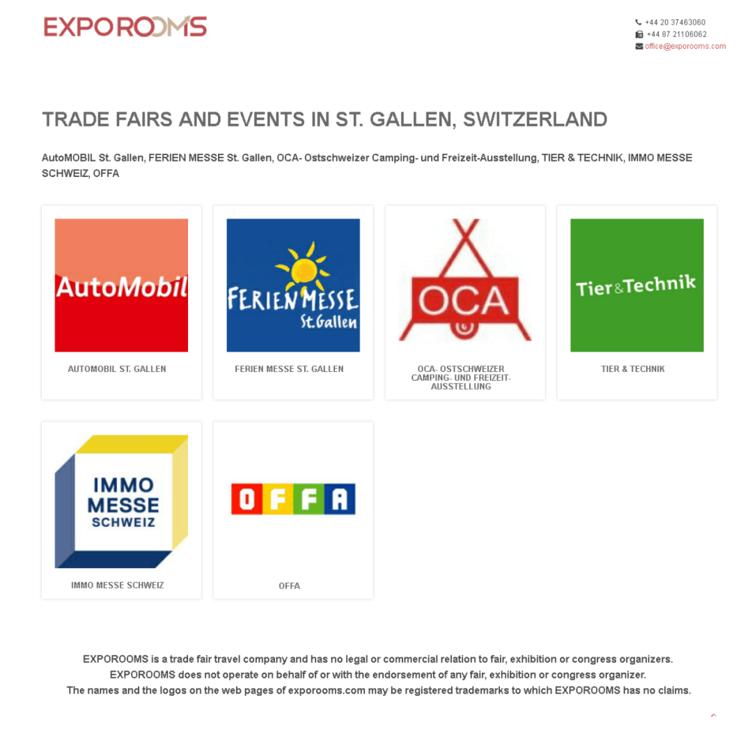 Trade Fairs and Events in St. Gallen, Switzerland