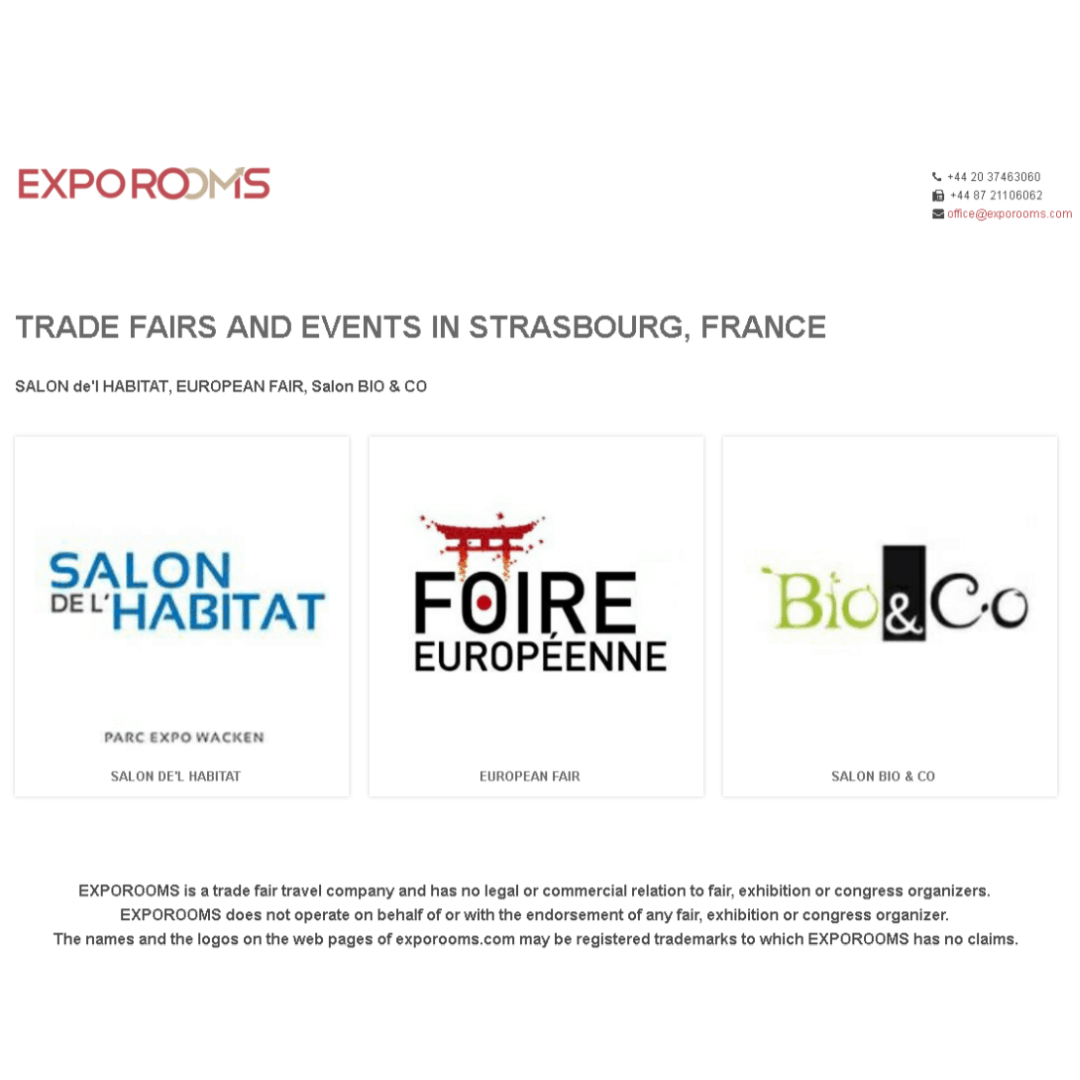 Trade Fairs and Events in Strasbourg, France