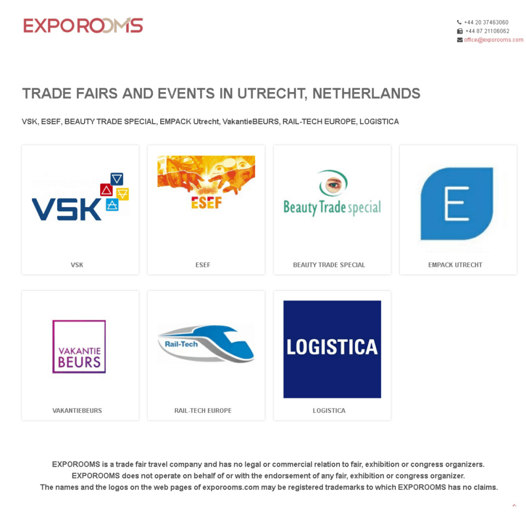 Trade Fairs and Events in Utrecht, Netherlands
