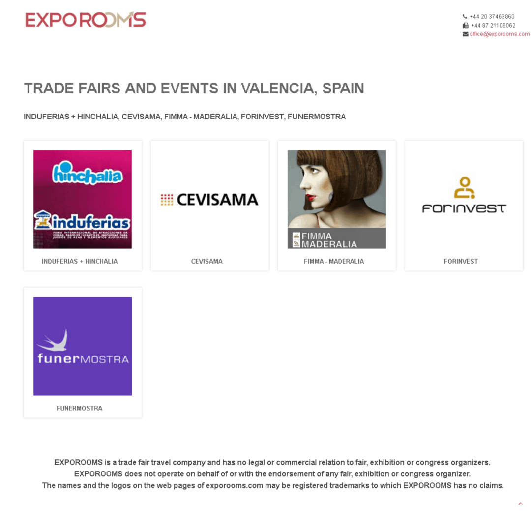 Trade Fairs and Events in Valencia, Spain
