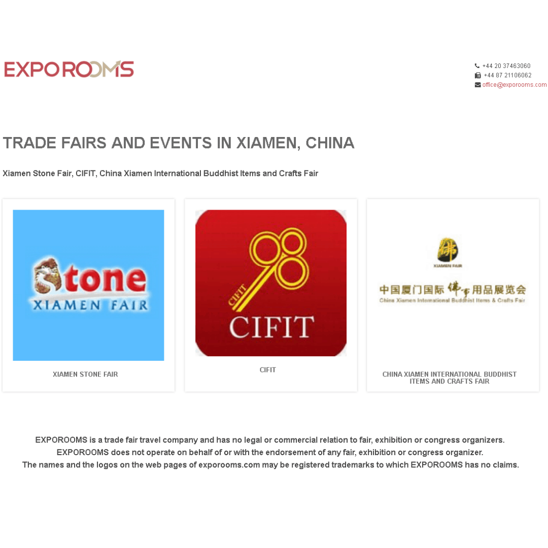Trade Fairs and Events in Xiamen, China