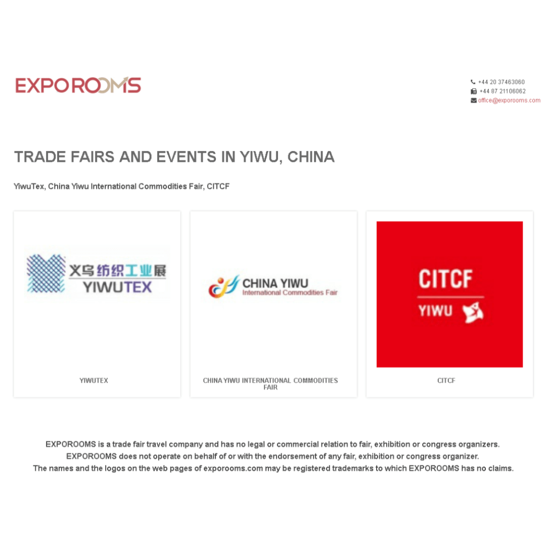 Trade Fairs and Events in Yiwu, China