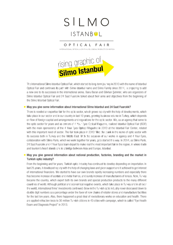 International Silmo Istanbul Optical Fair