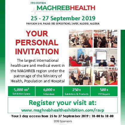 MAGHREB HEALTH 2019 Invitation